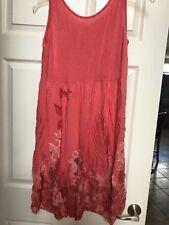 Italian Summer Lace & Floral print dress Size 5 Rayon & Lycra