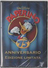 PAPERINO 75° ANNIVERSARIO ED. LIMITATA DVD DISNEY BIA 0163902 Z3A SIGILLATO!!!