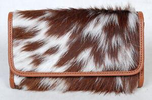 100% Real Cowhide Wallet Real Leather Hair ON Western Ladies Wallets  SA-3036