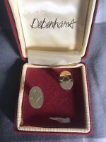 Vintage Masonic Gold Tone Cufflinks