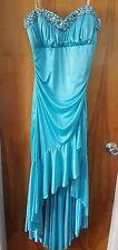 Blue High Low Mermaid Prom Cosplay Dress