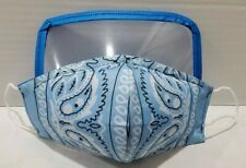 Paisley Bandana or Solid Color Face Mask with or without eye protection  **ASST