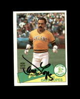 Dave Lopes Hand Signed 1985 Topps Oakland Athletics Autograph