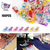 100PCS Clips for DIY Crafts Quilting Sewing Knitting Crochet Hemming Muti-Color