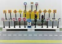 Lego City Town Village Street 25 Play road signs Post Box Traffic Lights