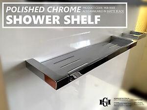 Modern Square Polished Chrome Metal Shower Tray/Shelf/Rack Bathroom Accessories