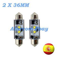 2 x BOMBILLAS led 36 mm C5W Festoon LED CREE 14W Canbus No Error #1010