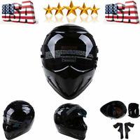 Motorcycle DOT Full Face Helmet StreetATV Racing Fiberglass Adult Cap fit Bandit