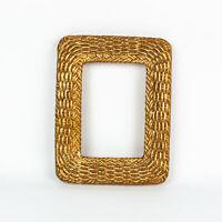 Vintage Gold Toned Basket Weave Resin Picture Frame