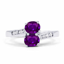 Engagement Cocktail Natural Amethyst Fine Rings