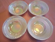 4 Federal Glass MOONGLOW DESSERT BOWLS Berry OPALESCENT Iridescent PEARL Rainbow