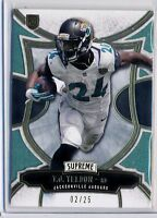 T.J. YELDON - 2015 Supreme Emerald Parallel Rookie Card /25 - Jaguars RC