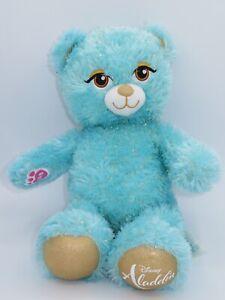 "Build A Bear Disney Aladdin Jasmine 17"" Stuffed Animal Plush Princess Doll Blue"