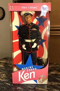 1991 MARINE CORPS KEN Doll #7574 Stars 'n Stripes Special Edition Mattel NRFB