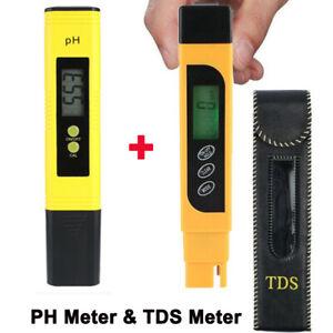 New LCD Digital TDS EC Water PH Pen Meter Tester temperature Monitor Tool ppm