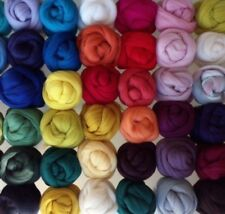 64 colours, 100% Merino Wool Tops Roving for Wet and Needle Felting, 20 - 200 g