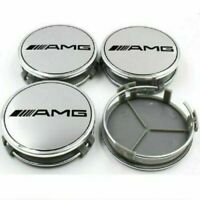 4pcs/set  AMG Emblem Wheel Center Cap Logo Badge Cover Car Hub 75mm