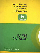 John Deere Jd860 Jd860A 860 860A Scraper Parts Catalog (Mar-95) Pc-1124 Lot #60c