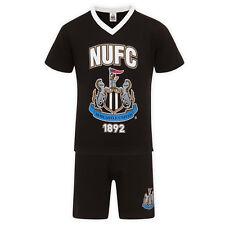 Newcastle United FC Official Gift Mens Loungewear Short Pyjamas Black XL