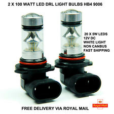2 x 100W Cree 9006 Hb4 Xenon White LED Fog Light lamps Bulbs Spot DRL Headlight