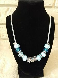 """Custom Handmade Necklace-Mix and Mingle-18"""" Silver Plated Mesh Rope Chain"""