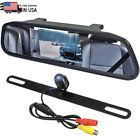 4.3'' Car Mirror Monitor Front Rear View Backup Camera Waterproof Parking System