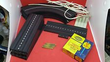 Original 60's Aurora Model Motoring Slot Track And Accessories Lot 18 Pcs Nice