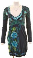 DESIGUAL Womens A-Line Dress Size 10 Small Multicoloured Cotton  DC01