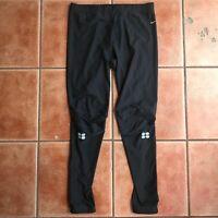 Nike Dri-Fit Leggings Athletic Track Pants Zipper Ankles Black Women's Sz Small