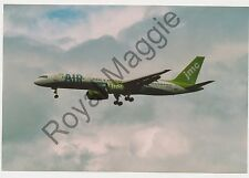 Colour print of JMC Airlines Boeing 757 28A G-FCLF at Newcastle in 2001