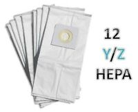 12 Hoover Type Y & Z Windtunnel Tempo HEPA Filtration Vacuum Bags 4010100Y