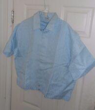 NOS 50s-60s CUSTOM Blue Textured Iridescent SHIRT JAC! ROCKABILLY Hipster XL/XXL