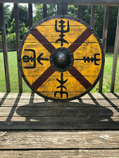 X-MAS GIFT Wood & Metal MEDIEVAL Knight Shield Handcrafted Viking Shield S14