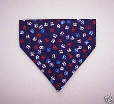 PAW PRINTS ON NAVY DOG SCARF--SMALL