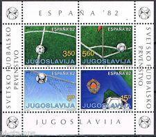 Joegoslavië - Jugoslavija blok 20 WK voetbal Worldcup soccer Spain MNH