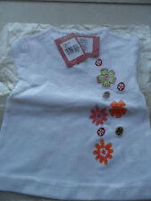 T-shirt Clayeux MC col tunisien blanc et multicolore - T. 6 mois - 67 cm