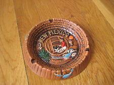 vintage New Mexico ASHTRAY roadrunner weaving adobe house Japan retro plate bowl