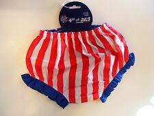 CHILD BABY 0-6 MTS TODDLERS PATRIOTIC GIRLS BLOOMER RED WHITE BLUE STARS STRIPES
