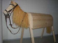 """Holzpferd """"Horst"""" NEU Spielpferd Pony Pferd Holzpony Reitpferd echte Handarbeit"""