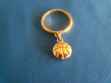 James Avery 14k Gold Basketball Dangle Ring Size 3 1/2