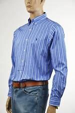 Ralph Lauren Classic Fit Blue & White Striped Long Sleeve Shirt/Blue Pony- NWT