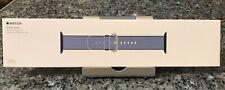 New SEALED Genuine Apple  Watch Band 38mm Navy/Tahoe Blue Woven Nylon NIB 40
