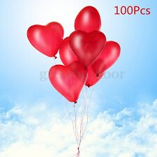 100 PCS 12'' Red Heart Love Latex Balloons Wedding Christmas Party Decoration
