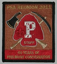 Philmont Staff Association PSA36 2011 40th Reunion Conservation Pocket Patch BSA