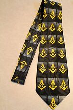 Fraternal Organization MASONIC Mason New Black 100% Polyester Neck Tie! #2099