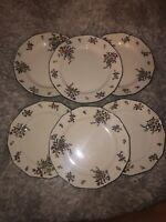 6 Royal Doulton OLD LEEDS SPRAY/Sprays D3548 Salad  Plates