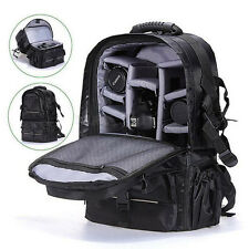 NEW Waterproof Black Travel Backpack Bag Case for Camera DSLR Canon  Nikon Sony