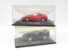 Herpa 1/43 - Lot de 2 : Ferrari F40 Noire + 348 TB Rouge