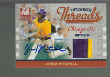 2009 DONRUSS ELITE ROOKIE THREADS PATCH AUTOGRAPH AUTO JARED MITCHELL RC /50