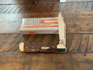 CASE XX LARGE COPPERLOCK KNIFE RICHLITE CHOCOLATE/BROWN/RED HANDLES w/BOX 2021
